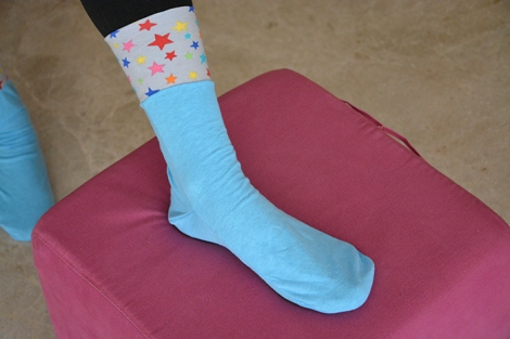 coser calcetines